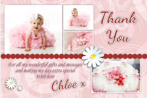 10 Personalised Thankyou PHOTO Cards No61